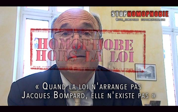 Mariage pour tous : « Quand la loi n'arrange pas Jacques Bompard, elle n'existe pas »