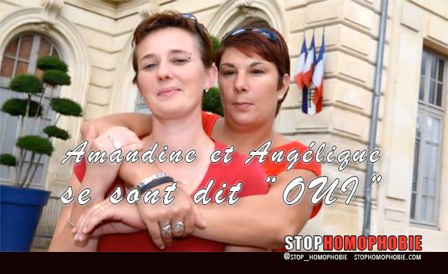 Mariage pour toutes : #Amandine Gilles et sa compagne #Angélique Leroux se sont dit #OUI