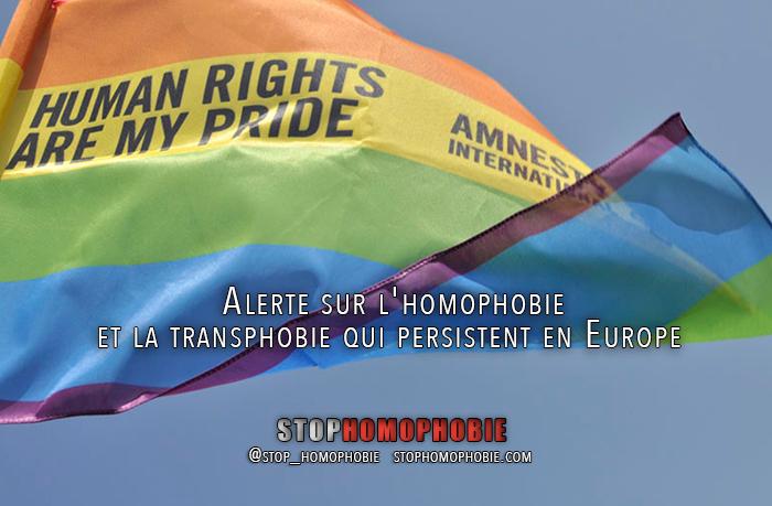 Alerte sur l'homophobie et la transphobie qui persistent en Europe