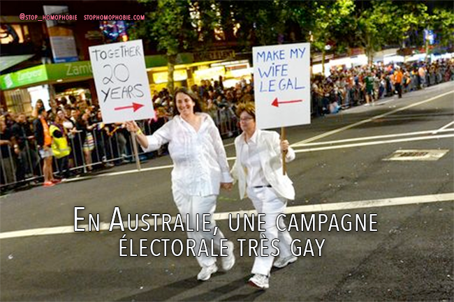 En Australie, une campagne électorale très gay