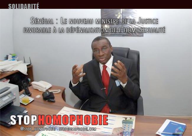 Sénégal : Le nouveau ministre de la Justice favorable à la dépénalisation de l'homosexualité