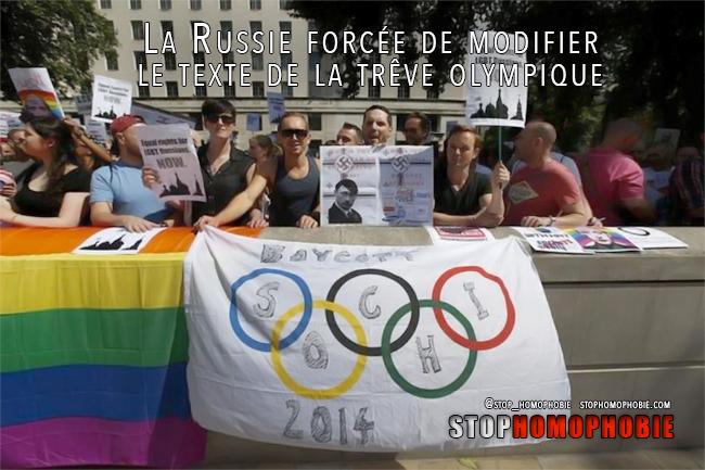 La Russie forcée de modifier le texte de la trêve olympique