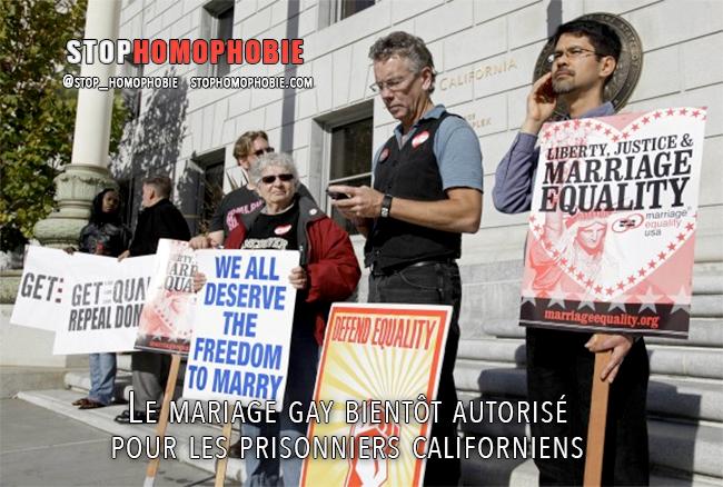 Le mariage gay bientôt autorisé pour les prisonniers californiens