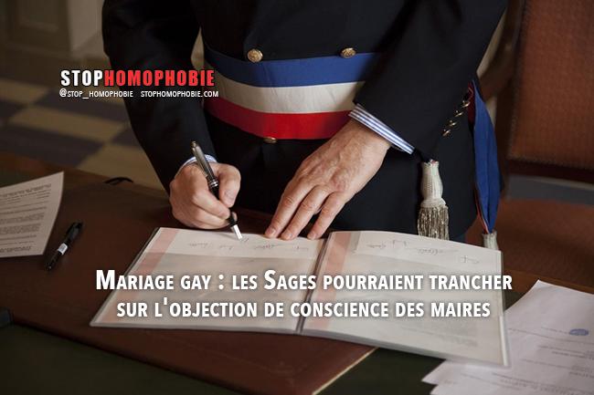 Mariage gay : les Sages pourraient trancher sur l'objection de conscience des maires