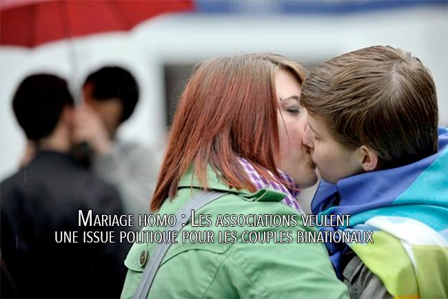 Mariage homo : Les associations veulent une issue politique pour les couples binationaux