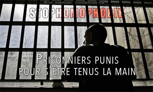 Royaume-Uni : Prisonniers punis pour s'être tenus la main
