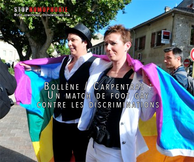 Bollène / Carpentras : Un match de foot gay contre les discriminations