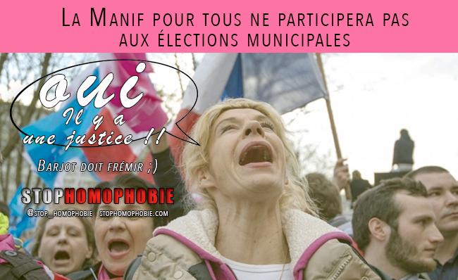 Mariage gay : La Manif pour tous ne participera pas aux élections municipales
