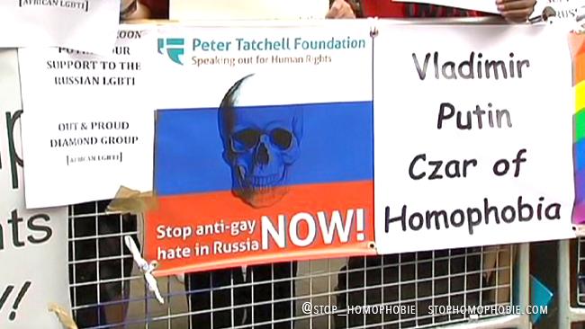 G20 : Mobilisation internationale contre la loi anti-gay russe