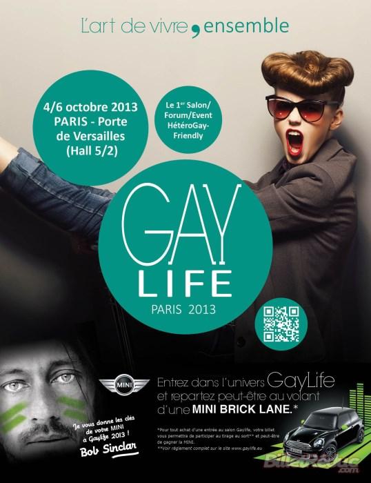 """Paris - Porte de Versailles du 4 au 6 octobre 2013 : Première édition de """"GayLife"""""""
