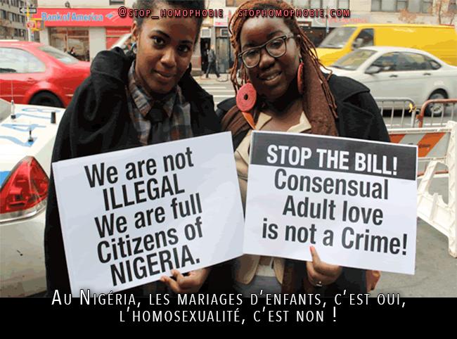 Au #Nigéria, les mariages d'enfants, c'est oui, l'#homosexualité, c'est non !