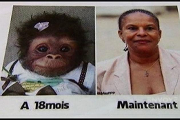 """Vidéo : Comparée à un singe, @ChTaubira dénonce la """"pensée mortifère et meurtrière du FN"""""""