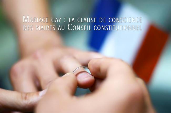 Mariage gay : la clause de conscience des maires au Conseil constitutionnel