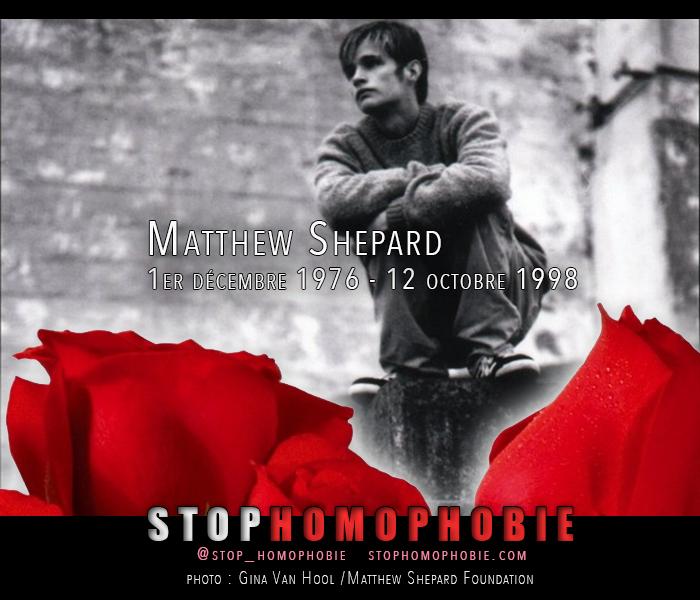 Souvenir : Matthew Shepard, né le 1er décembre 1976 et mort le 12 octobre 1998