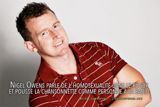 Homophobie : Si « certains sports ont encore du chemin à faire, le rugby n'en fait pas partie », selon Nigel Owens