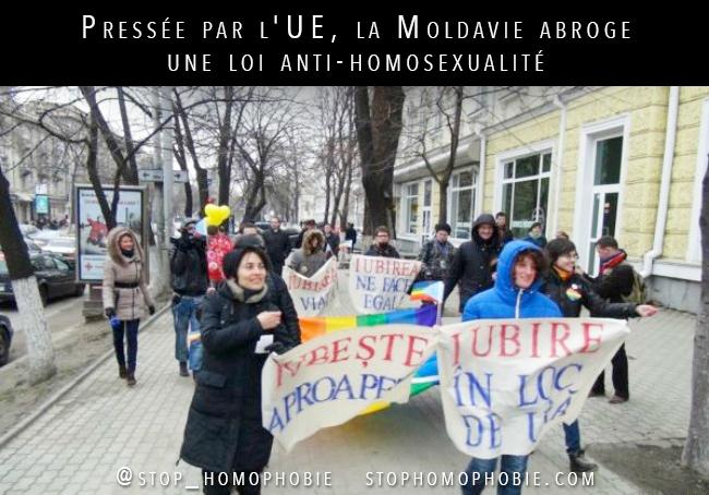 Pressée par l'UE, la Moldavie abroge une loi anti-homosexualité