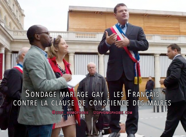 Sondage mariage gay : les Français contre la clause de conscience des maires