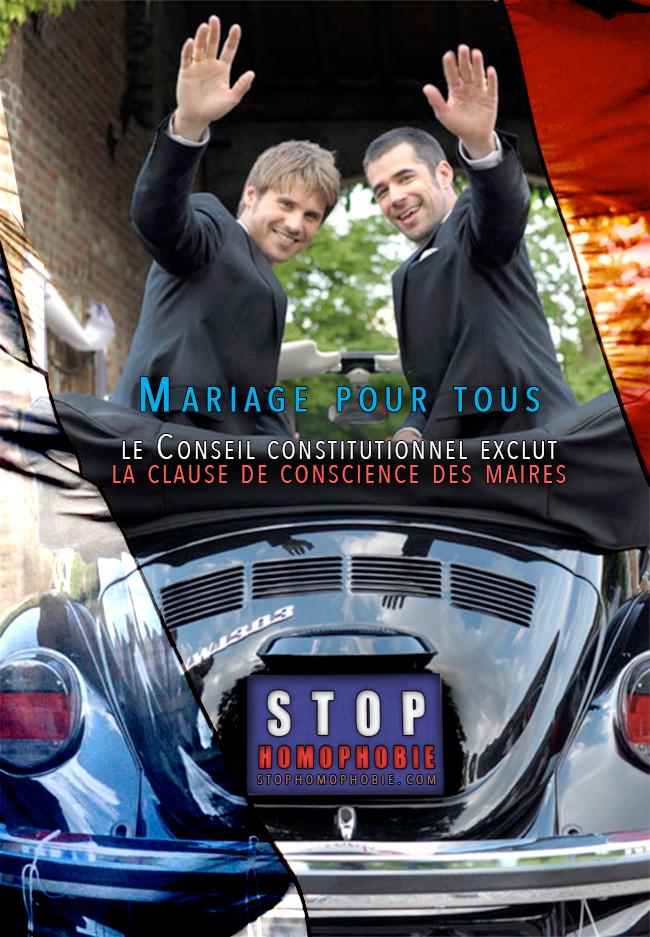Mariage Pour Tous : le Conseil constitutionnel exclut la clause de conscience des maires !