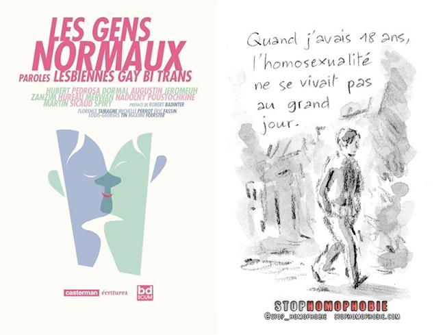 """L'#homosexualité en dix témoignages : #Casterman publie """"Les gens normaux, Paroles #lesbiennes #gay #bi #trans""""."""