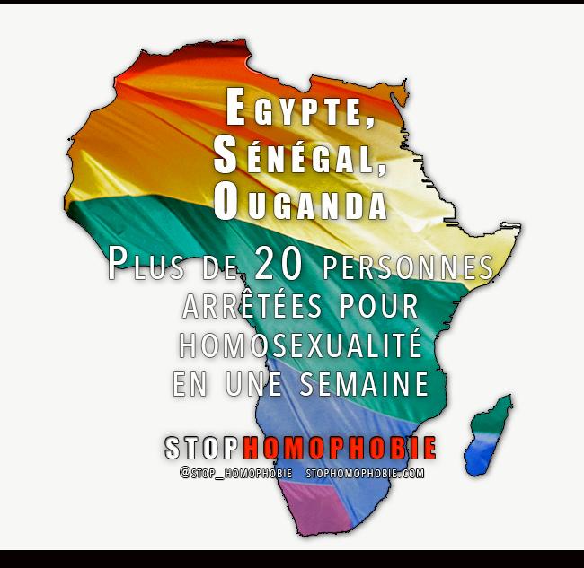 Egypte, Sénégal, Ouganda : Plus de 20 personnes arrêtées pour homosexualité en une semaine
