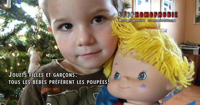Jouets filles et garçons : tous les bébés préfèrent les poupées!
