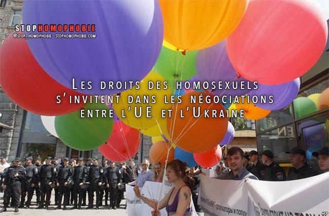 Les droits des homosexuels s'invitent dans les négociations entre l'UE et l'Ukraine