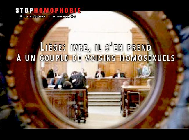 #Liège: ivre, il s'en prend à un couple de #voisins #homosexuels