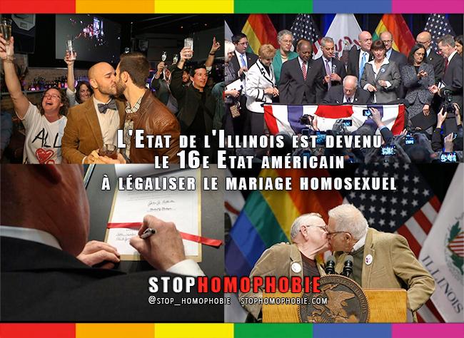 Etats-Unis : l'#Illinois légalise le #mariage #gay