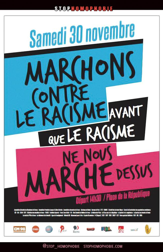 #Homophobie et #racisme : L'Inter-LGBT appelle à manifester samedi à Paris