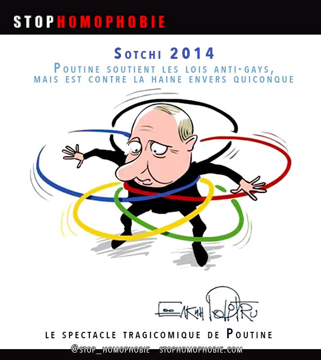 #Russie : Poutine soutient les lois anti-gays, mais est contre la haine envers quiconque.