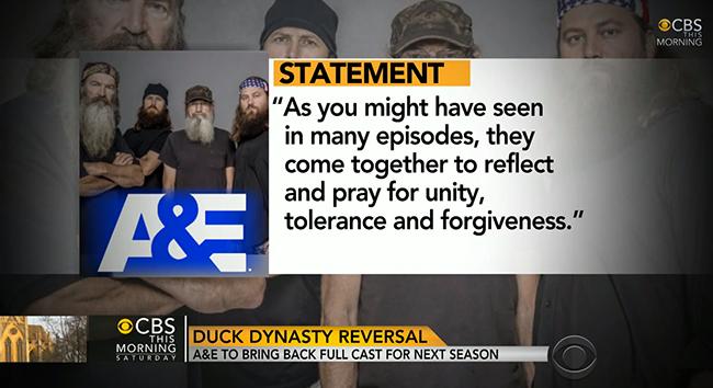 Phil Robertson, la star de «Duck Dynasty» suspendue pour propos homophobes, de retour à l'écran