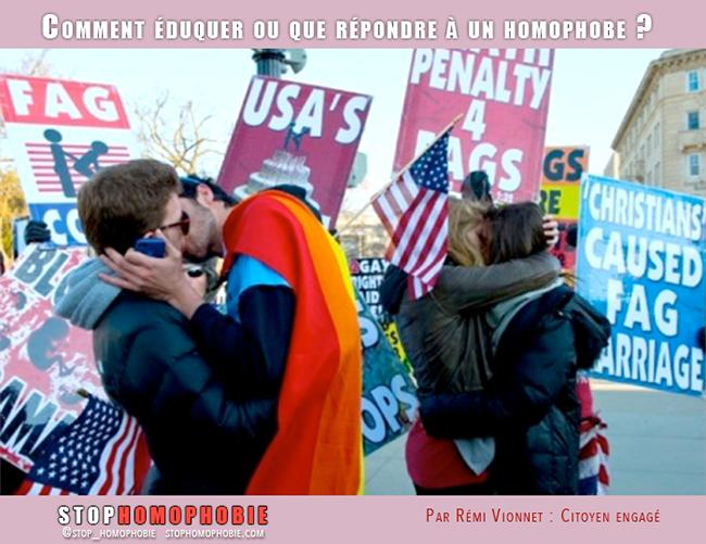 Comment éduquer ou que répondre à un homophobe ?