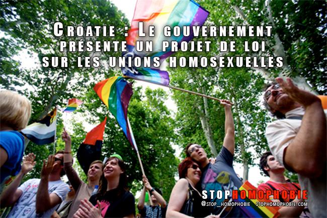Croatie : Le gouvernement présente un projet de loi sur les unions homosexuelles