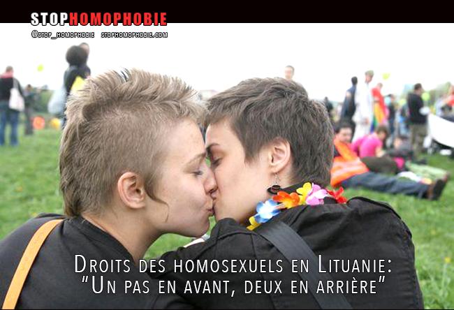 """Droits des homosexuels en Lituanie : """"  Un pas en avant, deux en arrière """""""