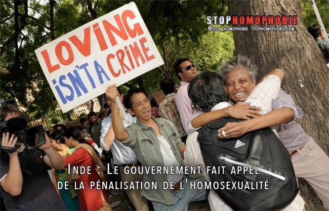 En Inde, le gouvernement fait appel de la pénalisation de l'homosexualité
