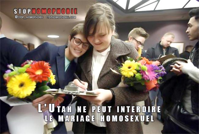 Etats-Unis : La #loi prohibant le mariage pour les couples #homosexuels dans l'#Utah est #anticonstitutionnelle