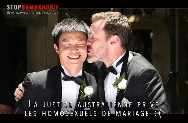 La Haute justice australienne prive les homosexuels de mariage