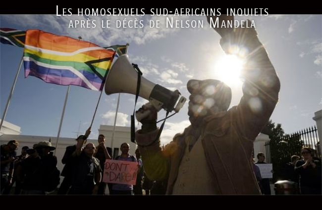 Les #homosexuels sud-africains inquiets après le décès de #NelsonMandela
