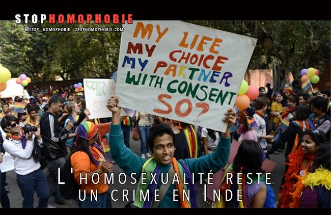 Inde : La justice rétablit la loi pénalisant l'homosexualité, colère de la communauté LGBT