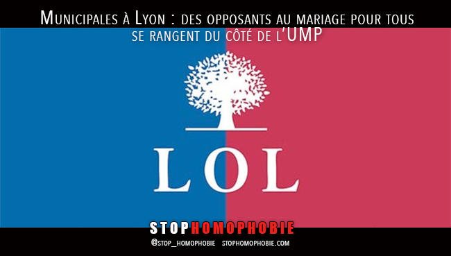 Municipales à Lyon : des opposants au mariage pour tous se rangent du côté de l'UMP