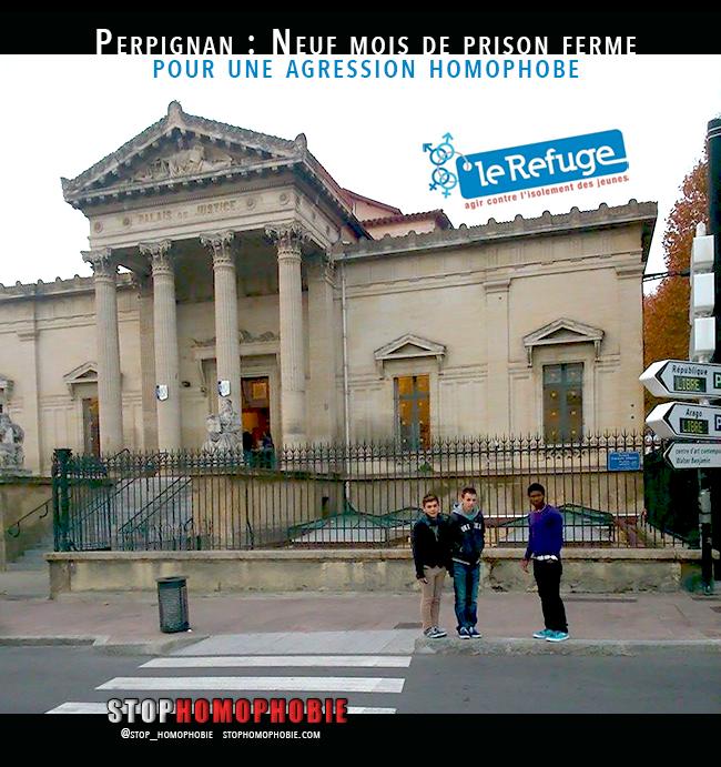 #Perpignan #homophobie : Neuf mois de prison ferme pour l'agression des jeunes du @_LeRefuge