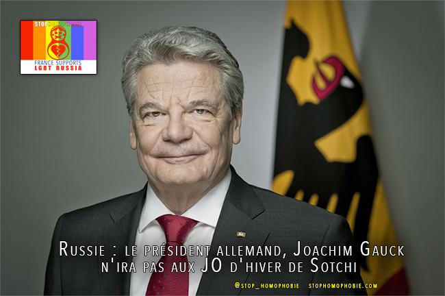 #Boycott #Russie : le président allemand n'ira pas aux #JO d'hiver de #Sotchi