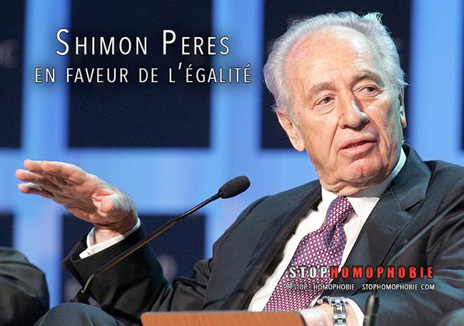 #MariagePourTous #Israël : #ShimonPeres se déclare en faveur de l'#égalité !