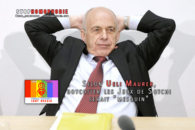 """Quand les """"dignitaires"""" #suisses se disent """"défavorables"""" à un #boycott des Jeux de #Sotchi"""