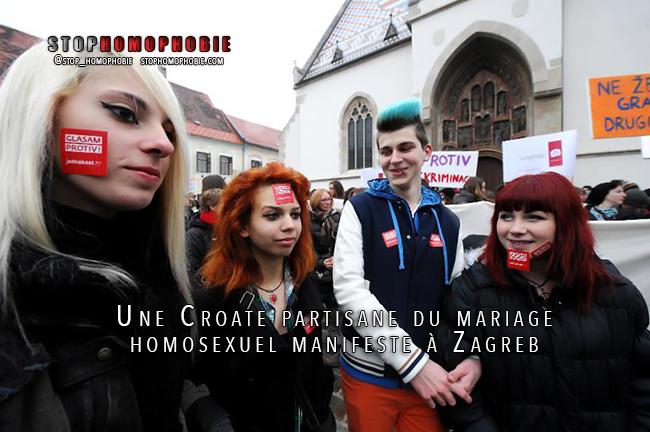 Croatie: manifestation en faveur du mariage homosexuel
