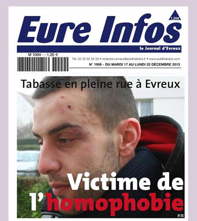 #Evreux : Un couple d'#homosexuels agressé