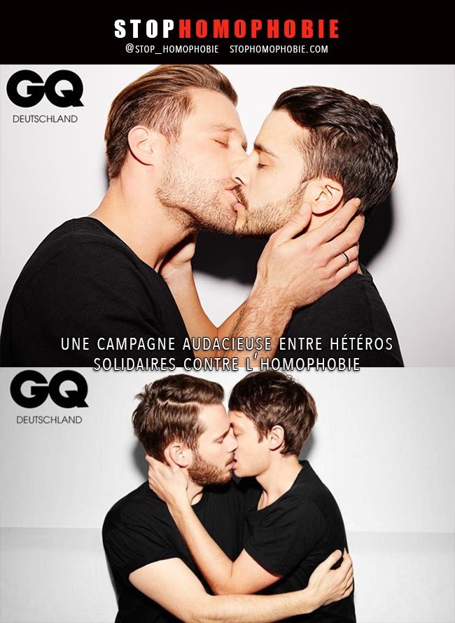 #Allemagne #GQ : Des célébrités masculines s'embrassent contre la #discrimination et l'#homophobie