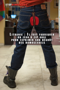 fait-fabriquer-un-#jean-à-zip-anal-pour-exprimer-son-#dégoût-des-#homosexuels
