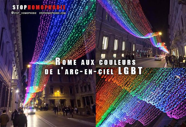 #Noël : #Rome aux couleurs de l'arc-en-ciel #LGBT