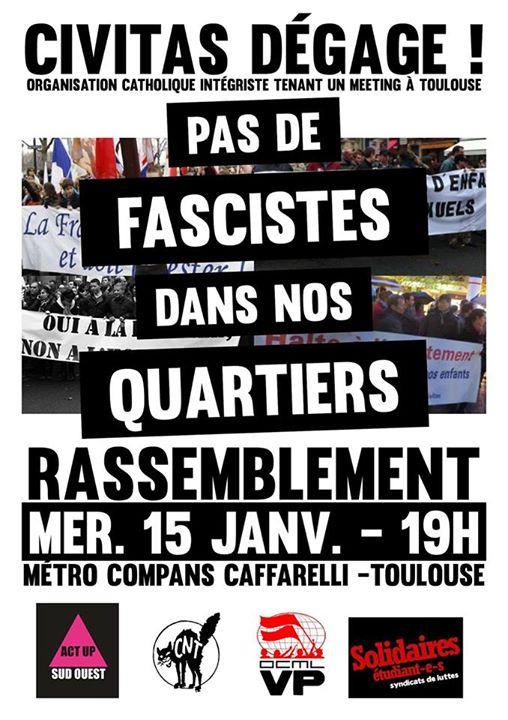 Act Up Sud-ouest - Toulouse : Rassemblement contre le meeting de #Civitas